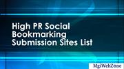 High PR Social Bookmarking Submission Sites List
