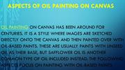 Aspects of Oil Painting on Canvas