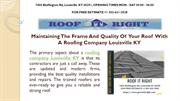 Roofing Company Louisville KY