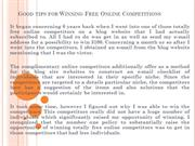 Good tips for Winning Free Online Competitions