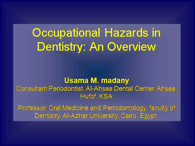 Occupational Health Hazards and Illnesses