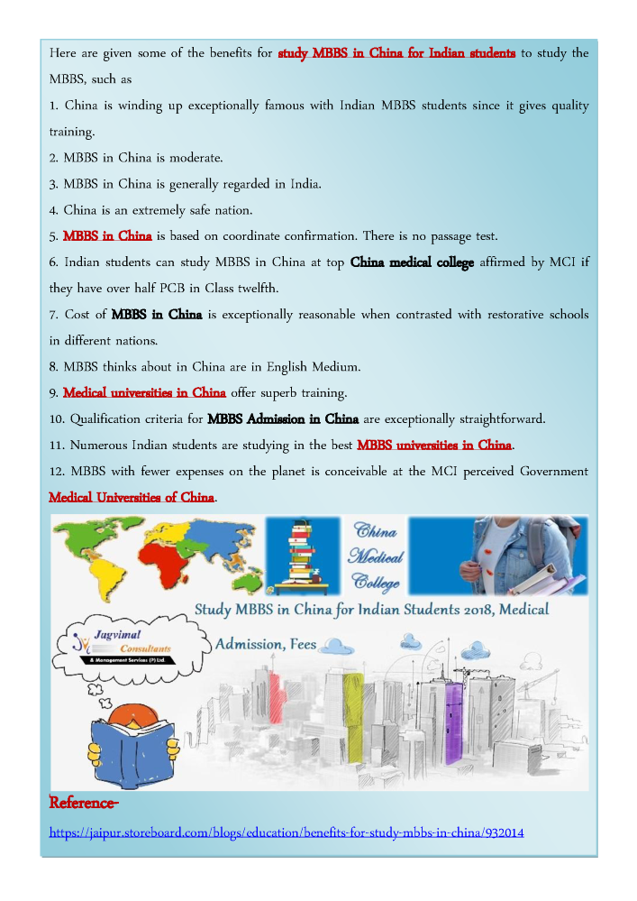 Benefits for Study MBBS in China |authorSTREAM