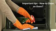Oven cleaning tips for you
