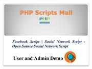 Facebook Script - Social Network Script - Open Source Social Network S