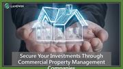 Secure Your Investments Through Commercial Property Management Compani
