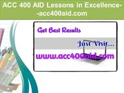 ACC 400 AID Lessons in Excellence--acc400aid.com