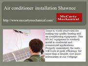 Air conditioner installation Shawnee