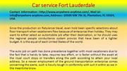 Car service Fort Lauderdale