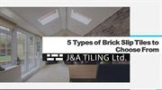 5 Types of Brick Slip Tiles to Choose
