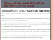 Injury Lawyer Vaughan ON