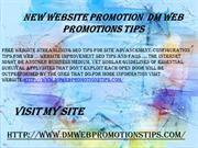 New Website Promotion  DM Web Promotions Tips
