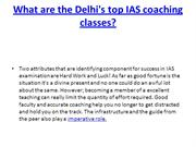 What are the Delhi's top IAS coaching classes