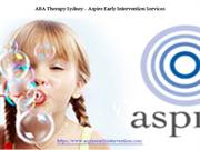 ABA Therapy Sydney Aspire Early Intervention Services