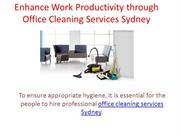 Enhance Work Productivity through Office Cleaning Services Sydney