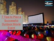 Tips to Plan a Successful Outdoor Movie Event