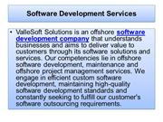Software Development Services Company - Software Consulting Services C