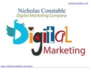 Nicholas Constable Digital Marketing Company, Weybridge, London