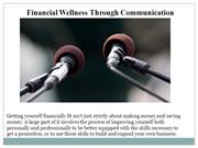 financial wellness through communication