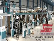 5 Layer Corrugated Board Plant , Corrugated Box Making Machine