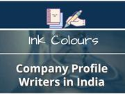 Company Profile Writers in India