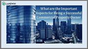 What are the Important Aspects for Being a Successful Commercial Prope