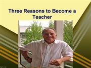 Three Reasons to Become a Teacher: Lewis Aptekar