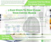 Cleaning TipsYou Wish You Knew Earlier - Coffee Maker