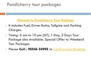 Pondicherry tour packages ppt