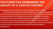 Five Points for Determining the Quality of a Canvas Painting