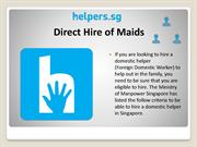 Direct Hire of Maids