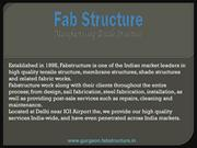 Tensile Fabric Structure In Gurgaon