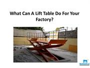 What Can A Lift Table Do For Your Factory