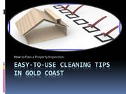 Cleaning Tips- How to Pass Your Property Inspection in Gold Coast