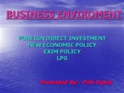 BUSINESS ENVIROMENT