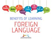 BENEFITS OF LEARNING A FOREIGN LANGUAGE