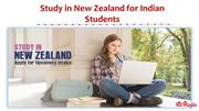 Study in New Zealand for Indian Students