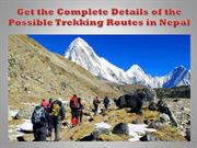 Get the Complete Details of the Possible Trekking Routes in Nepal