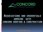 Associations and Credentials Working with our Roofing Company in Plano