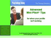 Advanced Mini-Pitch Tips