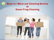 Move in and Move out Cleaning Service