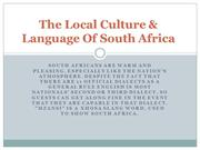 The Local Culture & Language Of South Africa