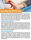 Lead a Healthy Life with Professional