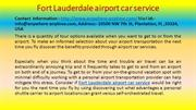 Fort Lauderdale airport car service