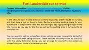 Fort Lauderdale car service