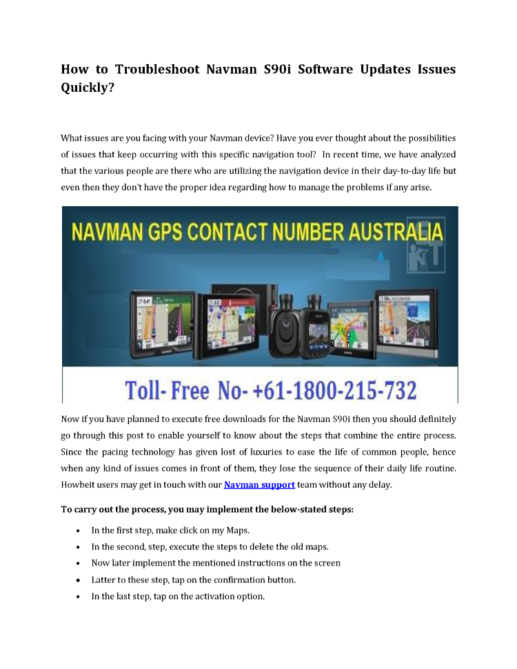 How to Troubleshoot Navman S90i Software Updates Issues Quickly