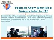 Points To Know When Do a Business Setup