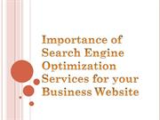 Importance of Search Engine Optimization Services for your Business We