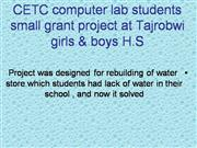 CETC Small Grants Project