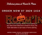 Delicious pizza at Roam'In Pizza