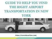 Select The Best Airport Transportation in New York